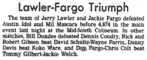 8-year-old Scott Bowden watched from the cheap seats as Fargo unmasked the myth of Mil Mascaras.