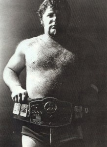 King without a crown: Lawler never won the NWA belt for Memphis, so Dave Millican created his own cardboard replica of the title.