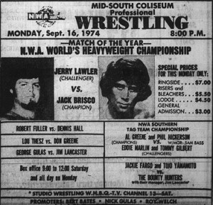 King...not even for a day: Following his title bout with Brisco, Lawler held the NWA title for about 10 seconds.