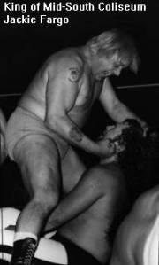 Jackie Fargo clobbers the would-be King at the Coliseum.