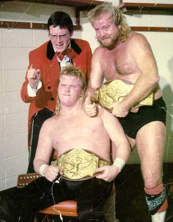 Gold standard: The MX raised the bar of tag-team wrestling with innovative bouts with Morton and Gibson, including their NWA World tag-title win on the SuperStation.