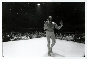 Masked aggression: Even Mil Mascaras cannot believe he did a stretcher job for Jackie Fargo in Memphis.