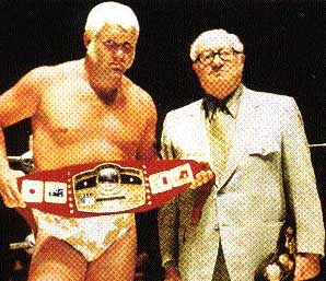What is that...velvet?: Race dropped the new NWA belt to Brisco shortly after Muchnick made the presentation in Houston.